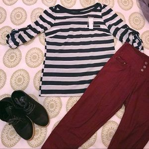 NY&C Striped Blouse